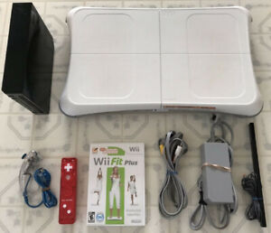 Black Wii_ With Wii Fit & Wii Balance Board / Controller...
