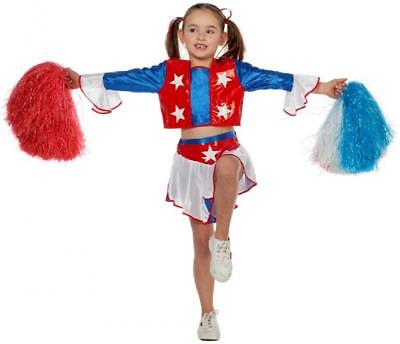 Cheerleader Kleid Kostüm Uniform Trikot Girl Dress Cheerleaderin Kinder Mädchen