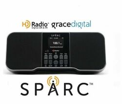 Grace Digital Sparc SHD-T750 Table Top HD Radio AM FM w/ Alarm Color Display Aux