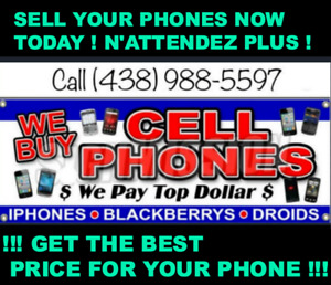WE PAY TOP $$$$  IPHONE 6 7 7+ 8 IPHONE X  ✅438 988 5597✅