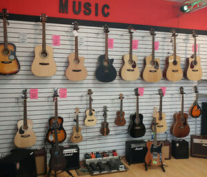 Guitars, Ukuleles, Strings and other music supplies!