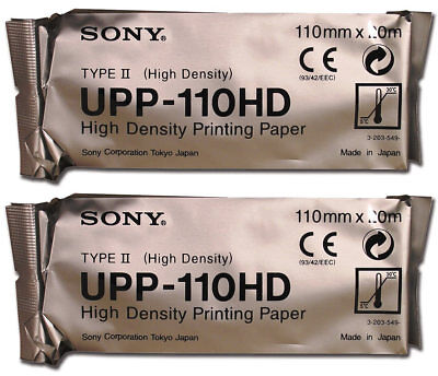 Sony Upp110hd High Density Black And White Media Paper - ...