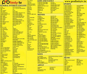 Profinitytv Profinity Canada IPTV Subscription