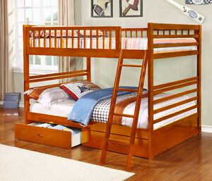 NEW!  Full over Full Bunk Bed w/ Storage Drawers!  FREE Delivery Comox / Courtenay / Cumberland Comox Valley Area image 3