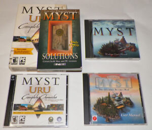 MYST PC Game Lot Real Myst URU Solutions Book