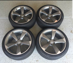 "2013 19"" Audi S5 5 Arm Titanium Rotor Wheels for sale!"