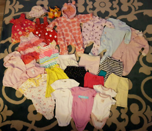 Baby Girl 0-6 Month Lot