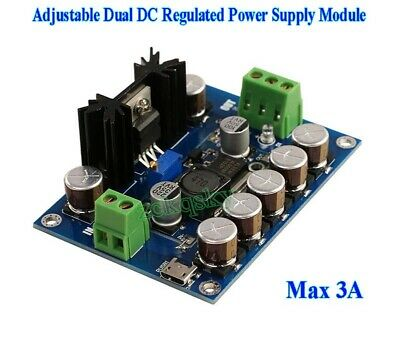 Usb Single Power To Dual Power Supply Module 3-18v 9v 15v Adjustable Regulator