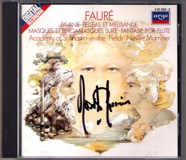 Neville MARRINER Signiert FAURE Pelleas et Melisande Pavane Fantaisie BENNETT CD