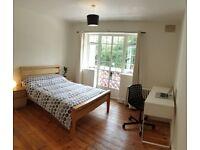 Big Double room - 5 minutes from Ealing Broadway + swimming pool