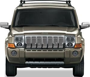 Fits Jeep Commander 2006 2010 Chrome Billet Grille Inserts Overlay 7pcs