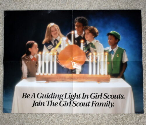 VINTAGE  GIRL SCOUT - 1993 COOKIE POSTER - 18 x 24""