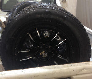 Chet 1-ton HD rims and snow tires