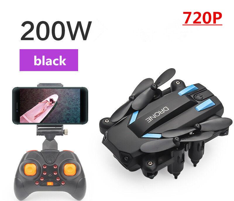 Mini folding remote control drone 720p air pressure fixed he