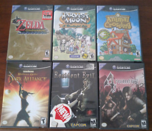6 Gamecube games, all complete and in excellent condition