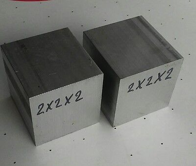 2 Pc 2 X 2 X 2 New 6061 Solid Aluminum Stock Plate Flat Bar Cnc Mill Block
