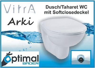 Wand WC Vitra Arki mit Duschdüse inkl. Softclosedeckel abnehmbar