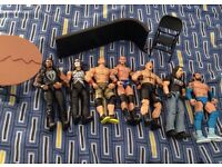 WWE FIGURES BUNDLE PLUS ACCESSORIES