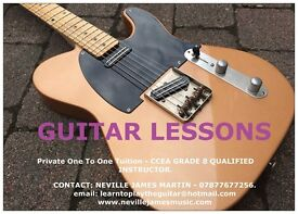 GUITAR LESSONS - ONE TO ONE - FULLY QUALIFIED GRADE 8 PROFESSIONAL TEACHER
