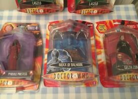 DOCTOR WHO NEW FIGURES SEALED IN BOXES MISB
