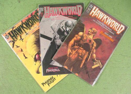 Hawkworld Books 1 2 3 Prestige Format DC 1989 Timothy Truman Hawkman SHARP MINT