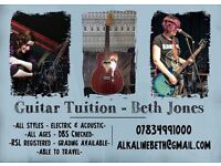 Guitar tuition, guitar lessons for all ages
