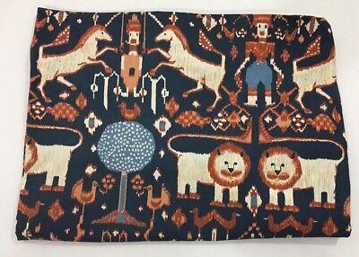Martex Inger McCabe Elliot Full Fitted Sheet Animal Kingdom Folkart Blue Orange