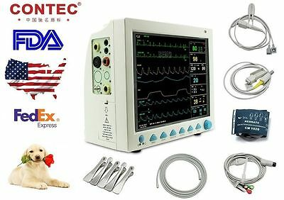Us Stockfda Cms8000-vet Patient Monitor Veterinary Ecgnibpresptempspo2pr