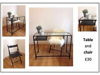 FURNITURE - table and chair