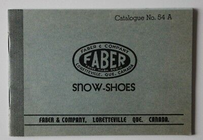 FABER Snow-Shoes 1956 dealer brochure catalogue 54A - English - ST501001218 for sale  Canada