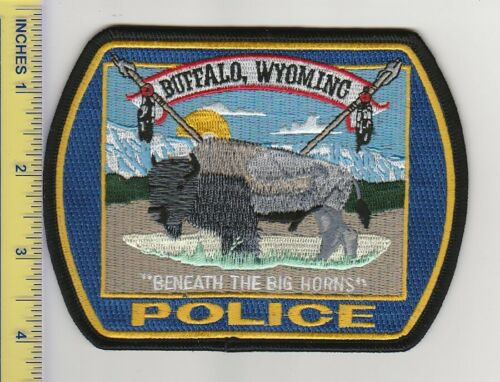 US Police Patch Buffalo Wyoming Police Department