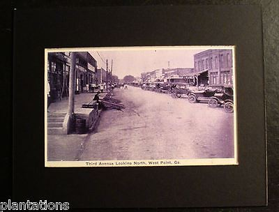 Third Avenue  Looking North  West Point  Ga   Print