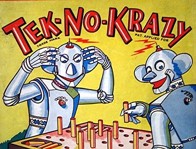 Vintage Tek-No-Krazy Robot Board Game