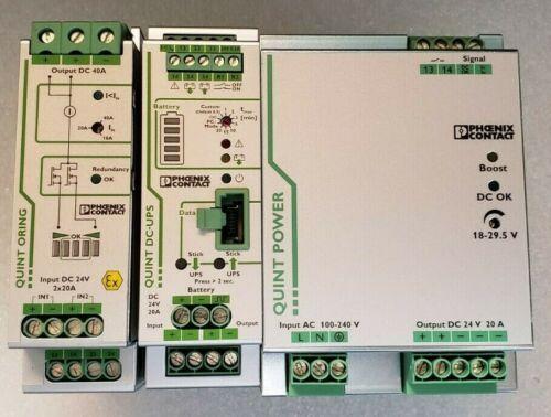 Phoenix Contact QUINT-PS/1AC/24DC/20 QUINT-UPS/24DC/24DC/20 QUINT-ORING/24DC/2x2