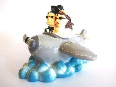 Boda Avión Viajes Luna de Miel Hucha Hucha 14cm Money