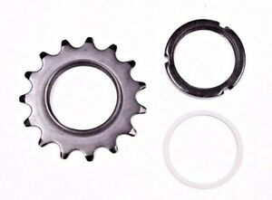 New Black 15T Track Fix Cog with Lockring 1/8