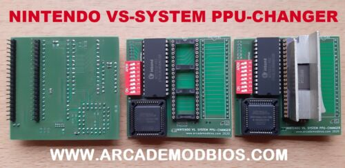 NINTENDO VS SYSTEM PPU-CHANGER PCB - PPU CONVERTER CHANGER ARCADE JAMMA