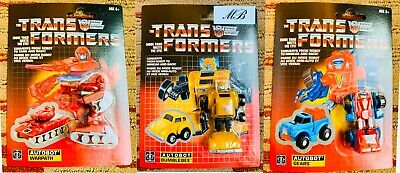 Transformers Gen 1 2019 Reissue Warpath BumbleBee Gears Lot of 3 Set Figure NISB
