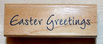 Easter Phrases (HERO ARTS ~ EASTER GREETINGS #C2744 Phrase Rubber Stamp 2.75