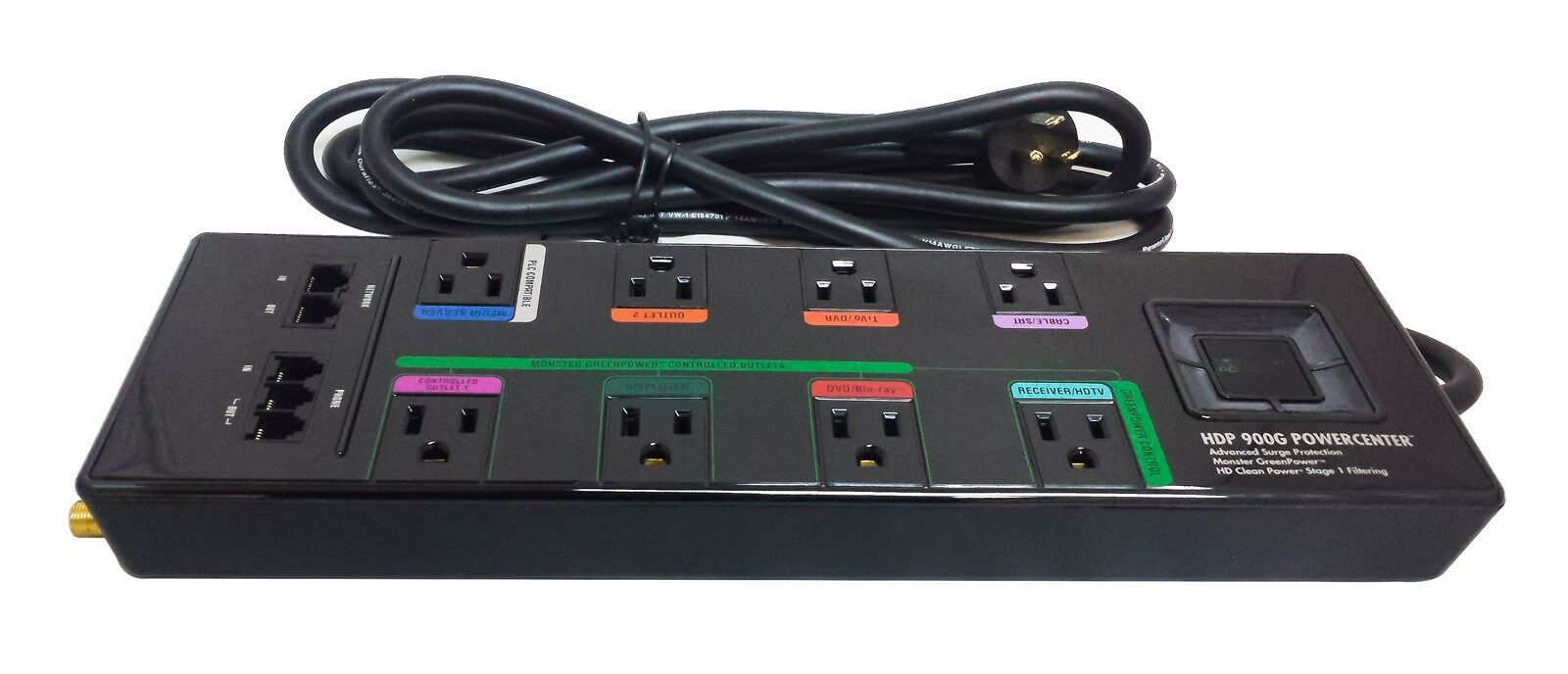 Monster Power MP HDP 900G Advanced Surge Protector - 8 Outlets ...