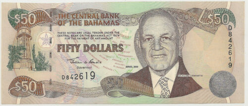 2000 BAHAMAS $50 ~ UNCIRCULATED ~ PRICED RIGHT! (INV#619)