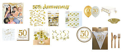 50th Wedding Anniversary Balloons Decorations (50th Wedding Anniversary Party Decorations Balloons & Tableware Golden)