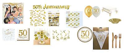 rty Dekorationen Luftballons & Geschirr Golden Hochzeit (50 Party-dekorationen)
