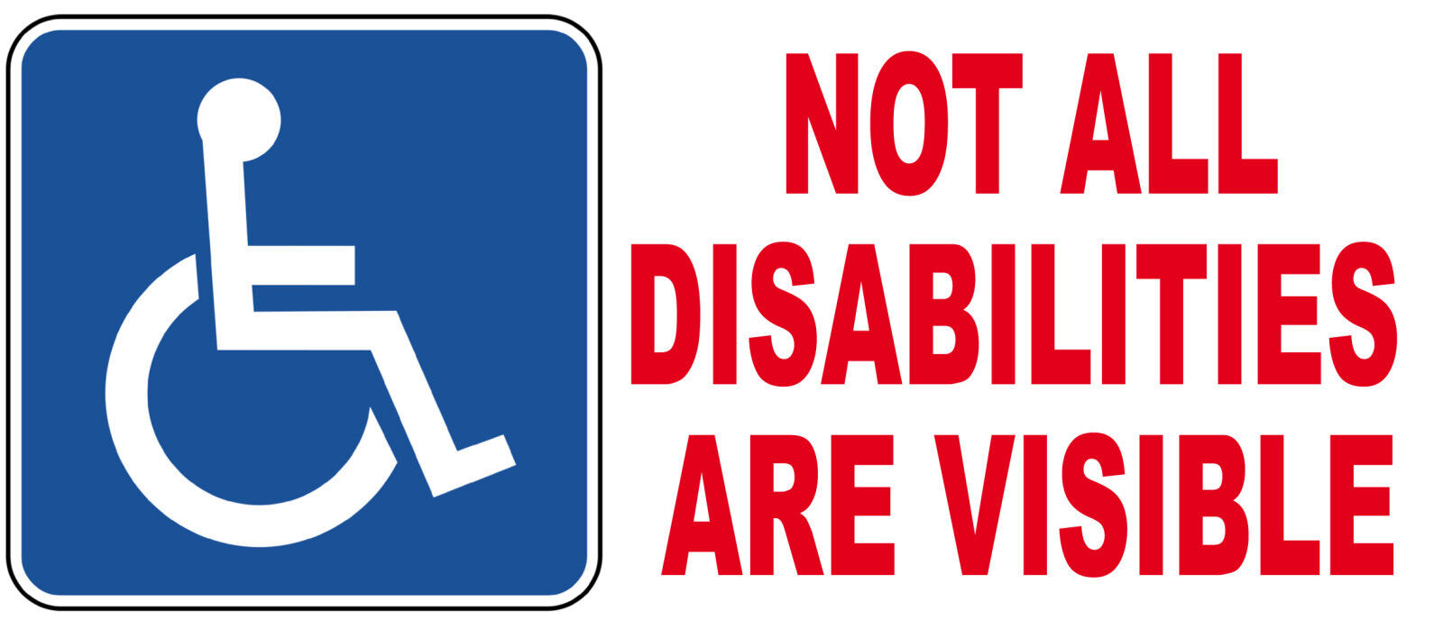 not all disabilities are visible - 1600×688