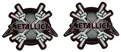 Metallica Metal Horns Die-Cut Patch Lot [UK Import] Standard 10-centimeter Badge