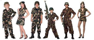 Soldat Ranger Kämpfer Rambo Armee Uniform Söldner Herren Kinder Kostüm (Armee Kostüme Herren)