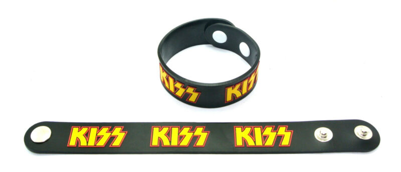 KISS RUBBER WRISTBAND BRACELET ROCK