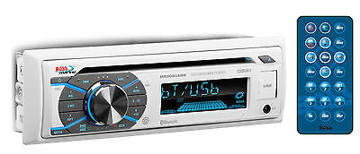 Boss Audio MR508UABW Single-Din Marine Stereo Receiver w/ Bluetooth MP3/CD AM/FM