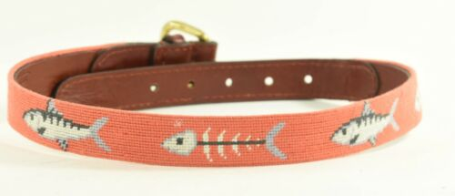 Bonefish Smathers and Branson Hand Stiched Needlepoint Belt Fish Children