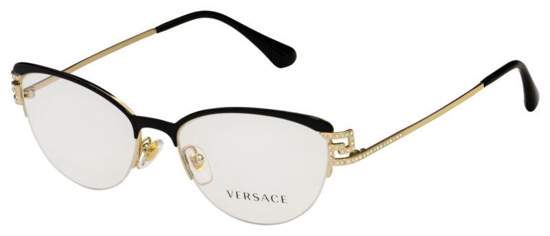 Versace Eyeglasses VE 1239B 1291 53 Black/Gold Frame [53-17-140]